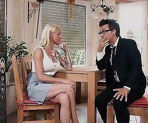 HITZEFREI Hot blonde MILF fucked on the kitchen table 12 min 1080p