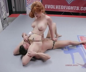 Lauren Phillips Anal Fucking after Mixed Nude Wrestling Fight 10 min 1080p