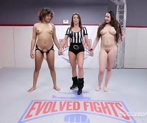 Daisy Ducati vs busty Kyra Rose in lesbian sex wrestling 12 min 1080p