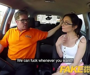 Fake Driving School Hot Italian nympho minx Valentina Bianco craves cock 8 min HD