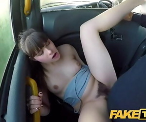 Fake Taxi Hairy wet French tight pussy penetrated by big cock 12 min