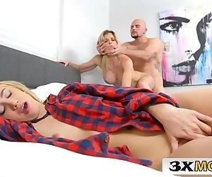 Stepmom Cory Chase Helps Her Stepdaughter Sierra Nicole Satisfy Her BoyfriendHD