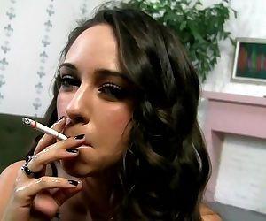 Layla - Smoking handjob with facial