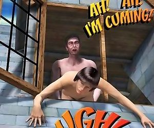 ROOM FOR RENT 3D Gay Animated Cartoon Comics or College Boy First Time Sex