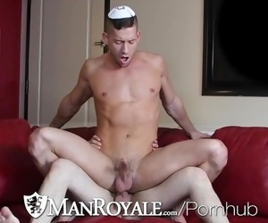 ManRoyale Jewish passover couch FUCK with two studs