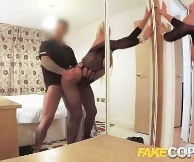 Fake Cop Policeman escorts MILF home for sex