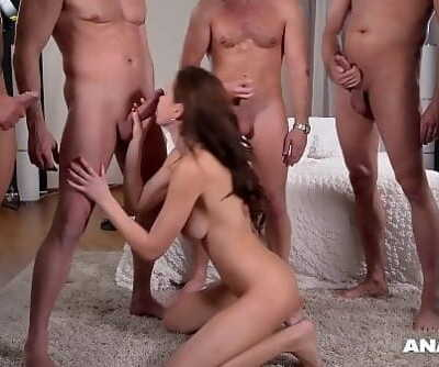Anal inspectors wanna watch Tina Kay fucked & DPed by 5 studs on porn set 22 min 1080p