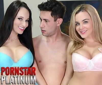 Threesome with big tit pornstars Lexi Luna and Natasha Nice