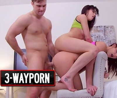 3-Way Porn - Two Hot Thick Step Sister In Kinky Threesome