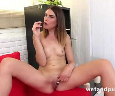 Squirting From Big Black Dildo
