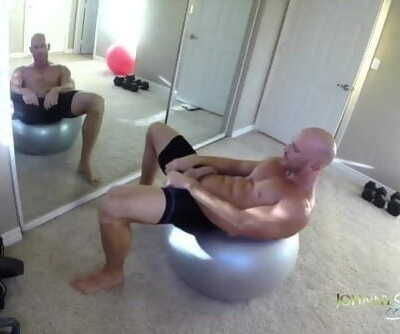 SinsLife - Porn Stud Johnny Sins Jerks off while Working out