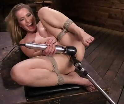 Lilly Lit Gets Fucked by Machines in Bondage