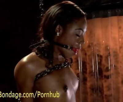 Ebony Submissive Loves Torment and Fucking Machines
