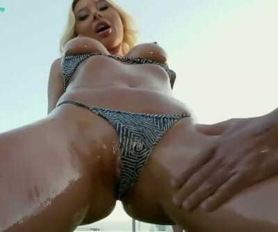 Hot Chick Marilyn Cristal Served with Big Dick on all her Holes