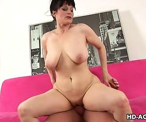Huge tits shaved pussy whore..
