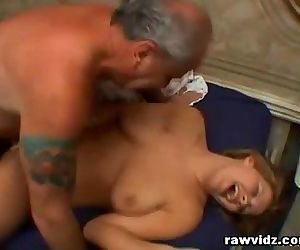 Grandpa loves fucking a blonde..