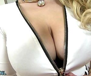 Busty blonde MILF takes a huge..