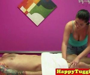 Real asian masseuse in naughty hj..