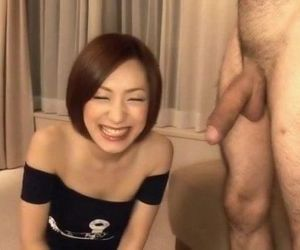 Nene Iino throats big cock until..
