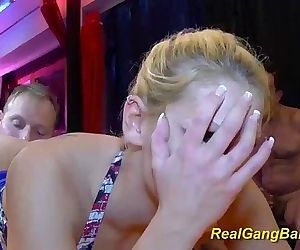 real gangbang with skinny teenHD