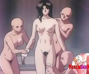 Hentai doctor gets fucked by many..