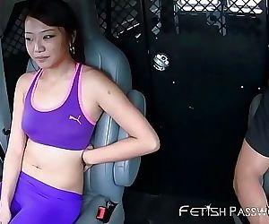 Lucky Asian Miko Dai facialized after BDSM joyride 8 min HD+
