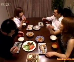 A Asian teenager is sitting at the dining table. Wit from http://alljapanese.net - 56 sec