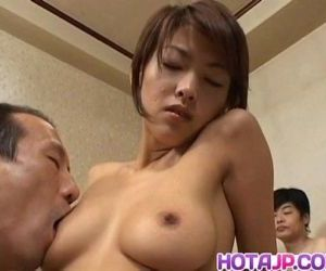 Sakura Sakurada licked and fucked in big gangbang - 10 min