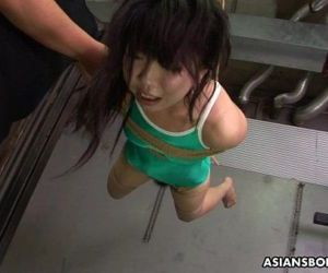 Asian freak tied up to be sexually tortured by some pervs - 8 min HD