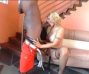 Huge Black Cock Stretches White Booty - 6 min