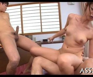 Mind-blowing oriental three-some - 5 min