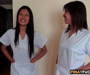 Asian Nurses Share A White Dick - 5 min HD