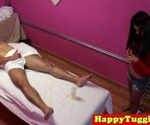 Real jap masseuse rubs customers dick - 8 min HD