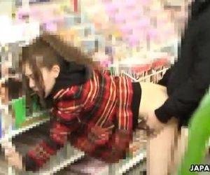 Asian slut in a store gotten fucked and ass spunked - 52 sec