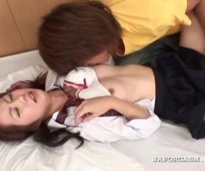 Asian horny schoolgirl gets cunt finger teased in bed - 5 min