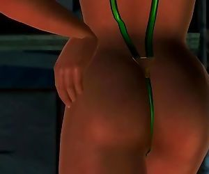 Dead or alive 5 Lisa is so hot in this tight microbikini thong! ass exposed