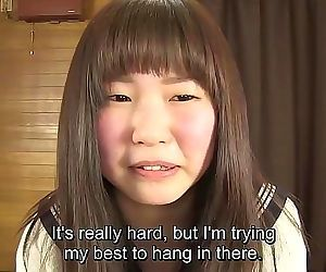 Subtitled Japanese schoolgirl pee desperation game in HD 5 min HD