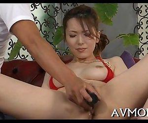 Oriental milf loves engulfing balls - 5 min