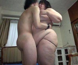 Subtitled Japanese extreme BBW fat body worship in HD - 5 min HD