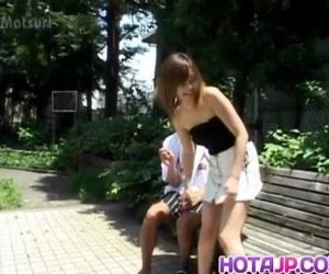 Sayaka Hagiwara has snatch touched outdoor and fucked in house - 10 min