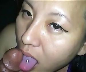 Asian Wife Blowjob gets cumshot to the face Instagram: Nativequeens1 14 min