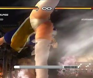 Dead or Alive 5 Kasumi & other girls upskirt panty shots while fighting !