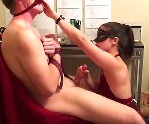 Blindfolded Edging Blowjob with Ice water