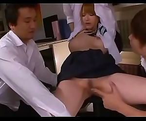 Immoral schoolgirl in a dirty action 5 min
