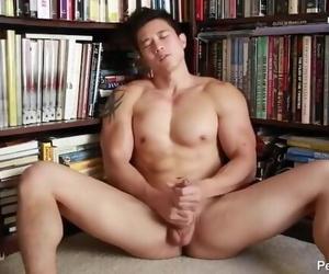 Hot Asian Guy Jerking his Big Cock
