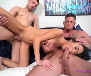 Asian Spinner Asks for three Cocks can she take it