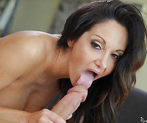 Mature Latina Ava Addams is sucking this horny prick and..