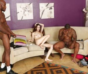 Interracial groupsex reveals skinny gangbang lover Jenna..