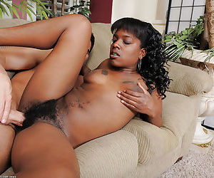 Amateur ebony Jordan Lover sucks the white dick before..