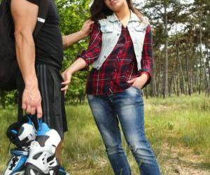 Flirty European teen Nikki Waine tempts and fucks a hot..